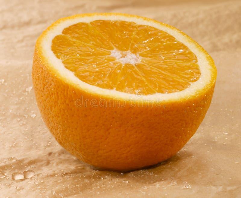 Orange Vät Arkivbild