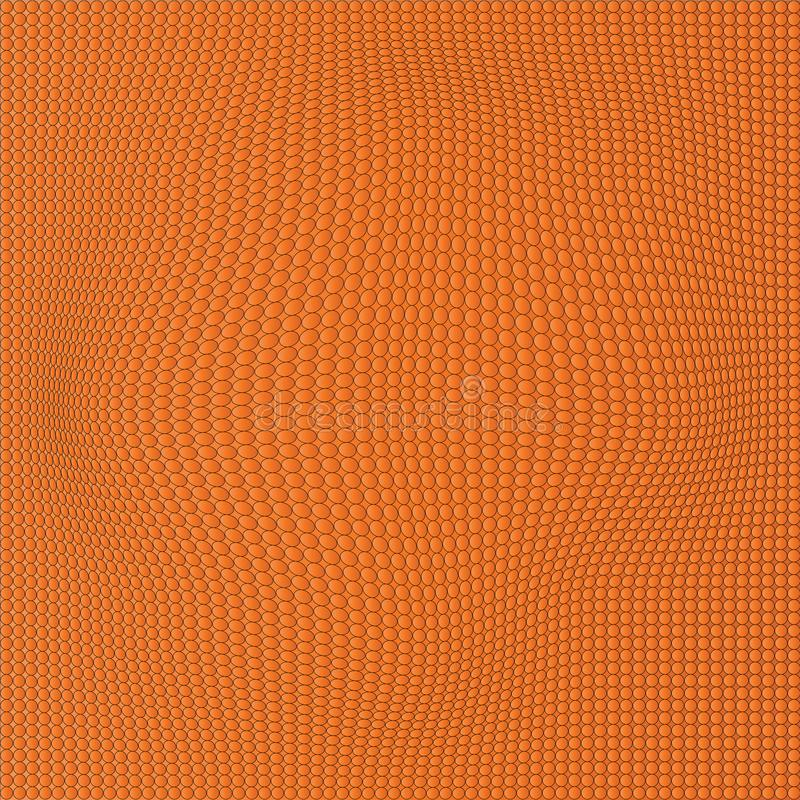 Orange vågprickbakgrund abstrakt wallpaper stock illustrationer