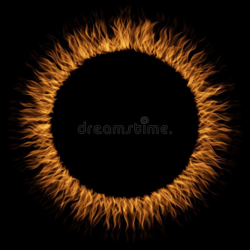Orange varm rasa eldsvåda av brand, flamma för cirkelrundacirkel royaltyfri illustrationer
