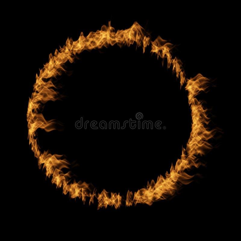 Orange varm rasa eldsvåda av brand, flamma för cirkelrundacirkel stock illustrationer