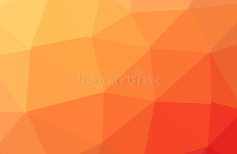Orange vector abstract textured polygonal background. Blurry triangle design. Pattern can be used for background. Vector Modern Polygonal Background with vector illustration