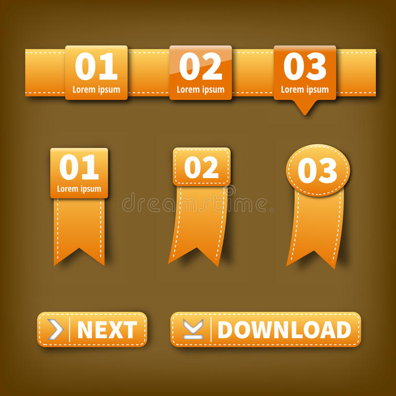 Orange Vector Labels Royalty Free Stock Images