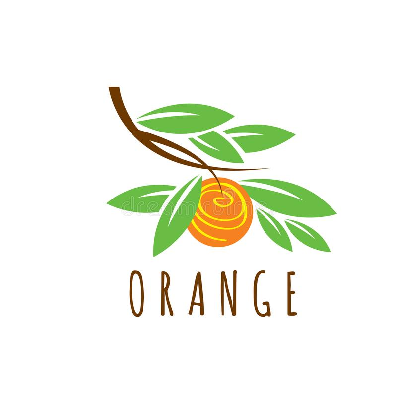 orange vector logo healthy food emblem fruit garden logo orange rh dreamstime com