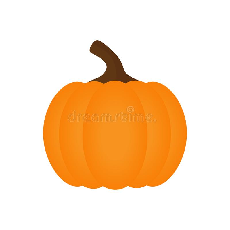 Orange vektor för halloween pumpagrönsak stock illustrationer