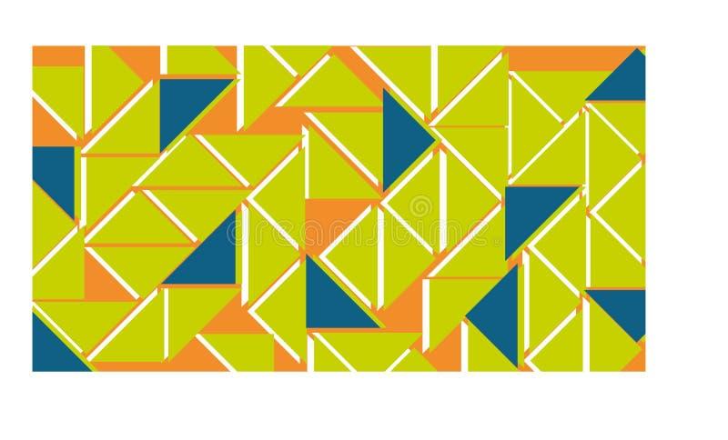 Orange, vert et bleu de fond image stock