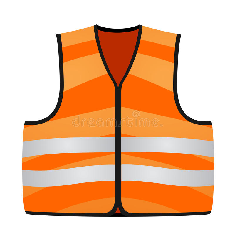 Orange vest stock illustrationer