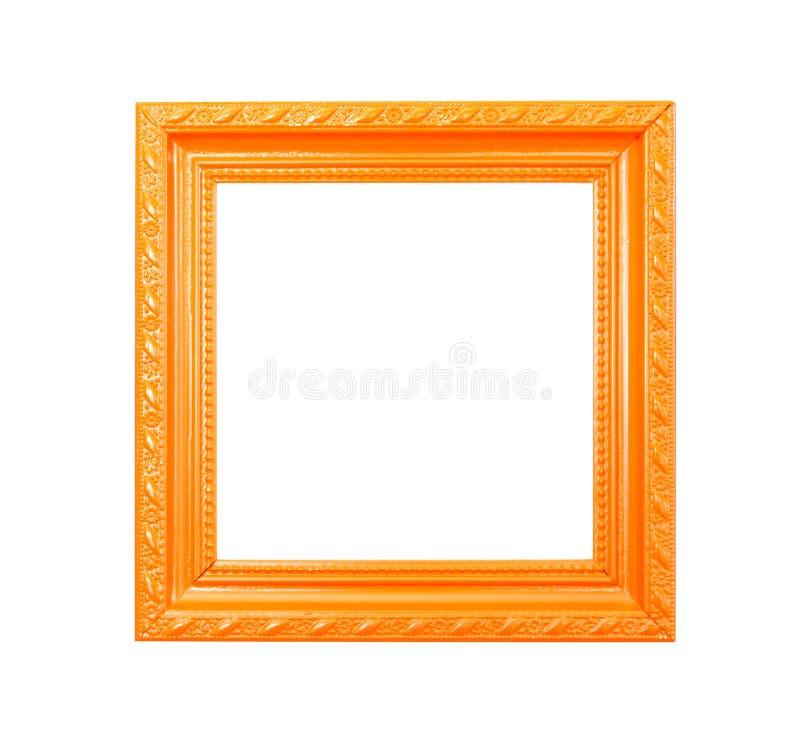 Free Orange Vintage Picture Frame On White Background Stock Photos - 25833383