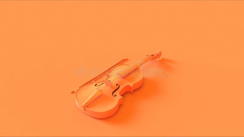 Orange Violin high angle stock photo
