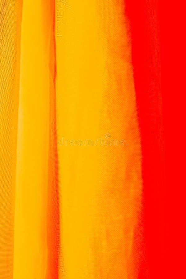 Orange Vorhang lizenzfreies stockbild