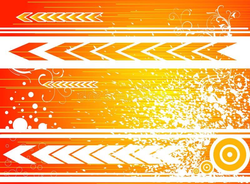 Orange Vorwärts lizenzfreie abbildung
