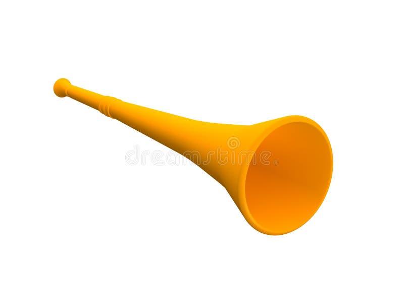 Orange vuvuzela trumpet. 3d rendered illustration vector illustration