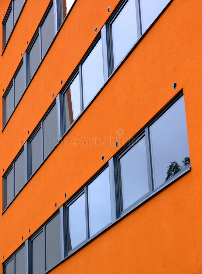 Download Orange wall stock image. Image of wall, vibrant, dormitory - 33779