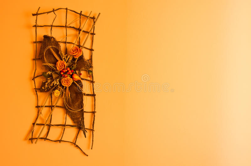 Download Orange Wall Decoration Stock Image - Image: 27784061