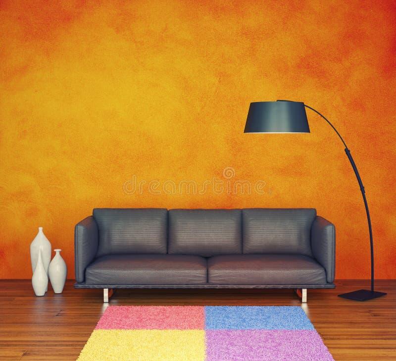 Orange wall vector illustration