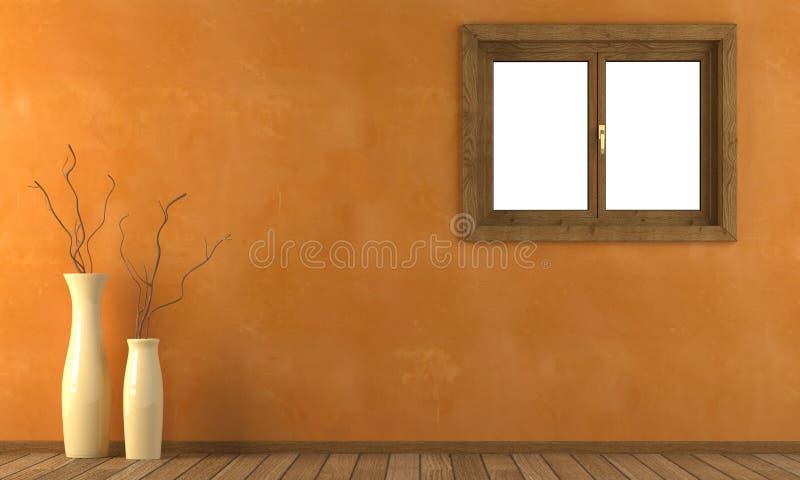 Orange wand mit fenster stockbilder bild 7411854 - Download er finestra ...