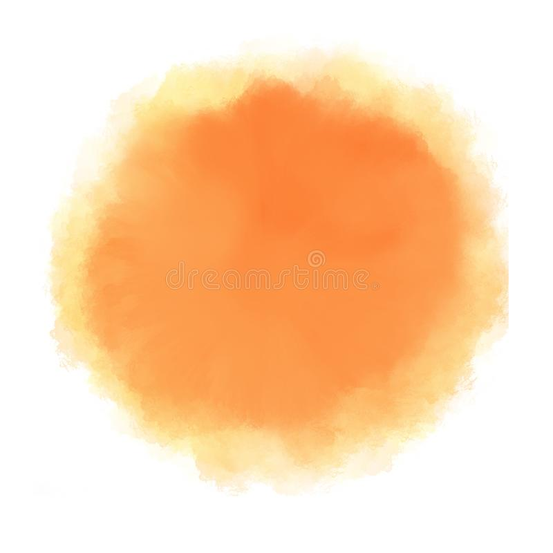 Orange water color drop on white background vector illustration