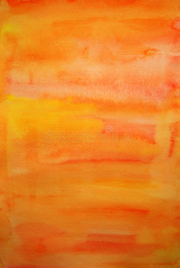 Free Orange Watercolor Hand Painted Art Background Royalty Free Stock Images - 17413979
