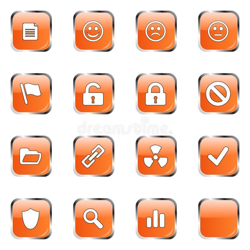 Free Orange Web Icon Set 3 Royalty Free Stock Images - 4724859