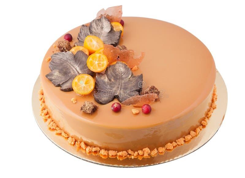 Orange wedding cake royalty free stock photos