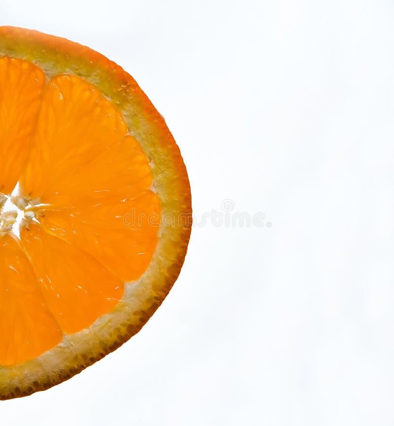 Orange wedge stock image