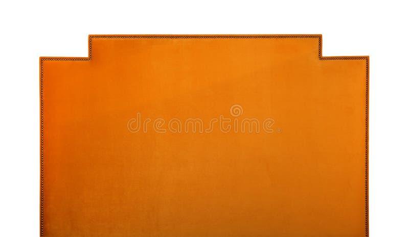 Orange weiche Samtbettkopfende lokalisiert auf Weiß lizenzfreies stockfoto
