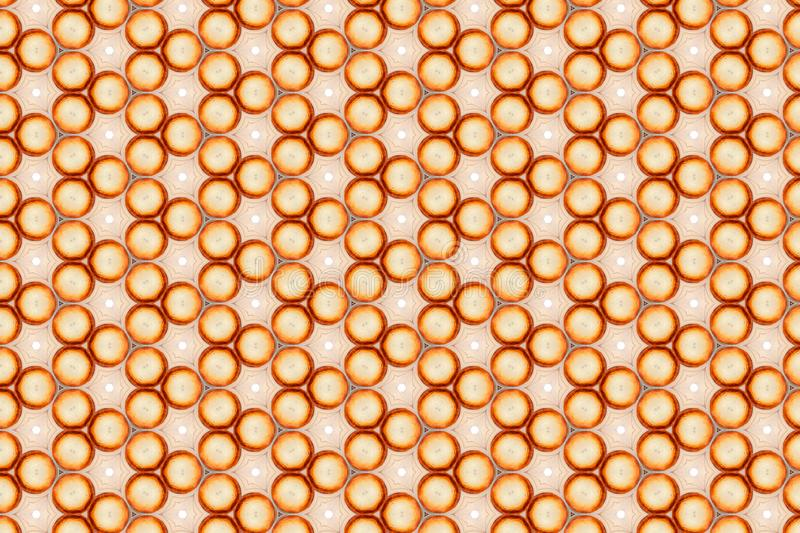 Orange and white abstract background. template with geometric design. symmetric geometric ornaments in shape of pie or cake. Orange and white abstract background stock photos