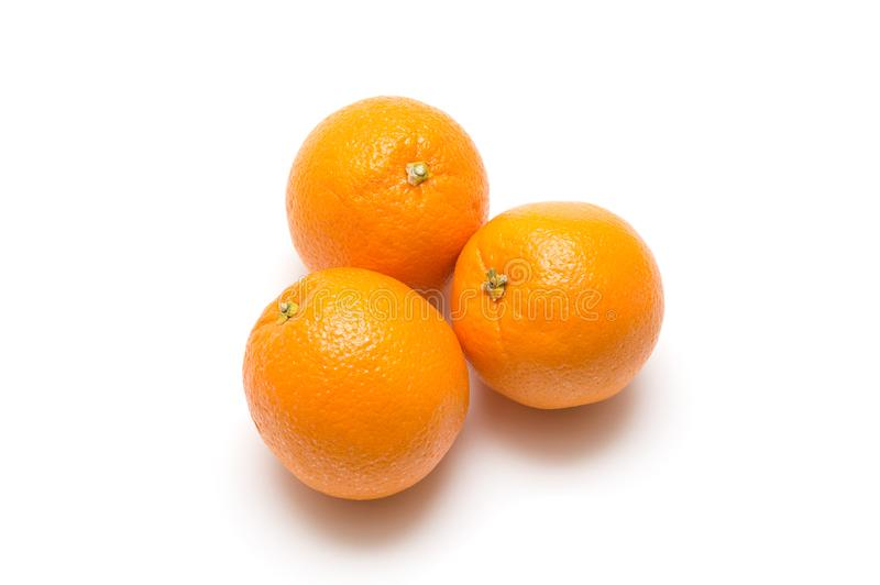 Orange on white background : Fresh fruit image stock photography