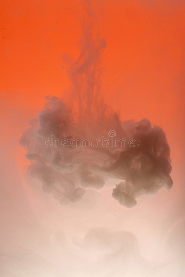 orange white för oklarhet arkivfoto