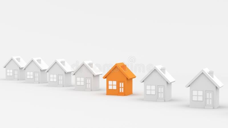 Orange and white house vector illustration