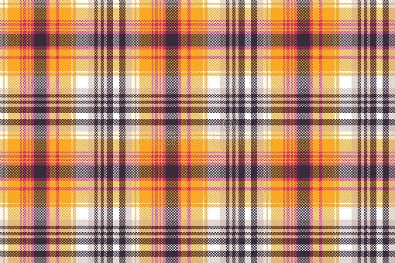 Orange white pixel seamless fabric texture. Vector illustration royalty free illustration