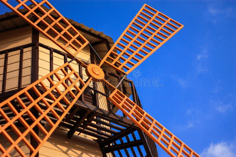 Orange Wind Mill stock photography