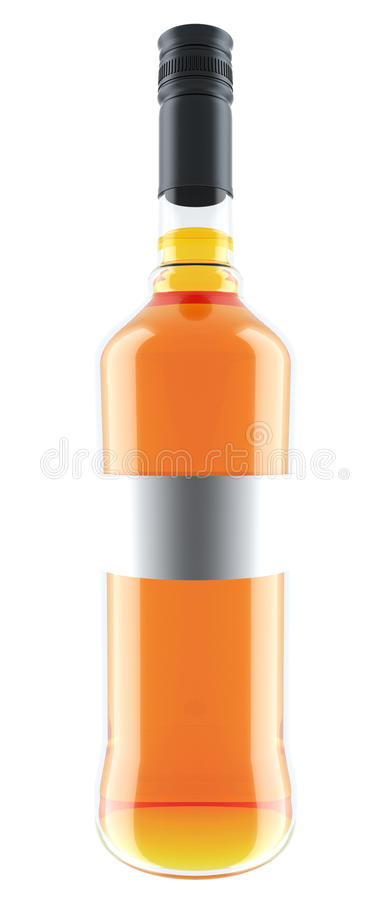 Orange Wine Bottle Royalty Free Stock Image