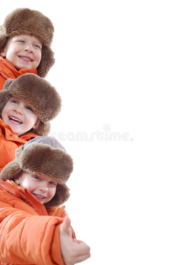 Download Orange winter team family stock image. Image of friends - 12304043