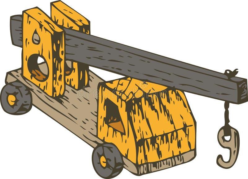 Orange Wooden Crane stock illustration