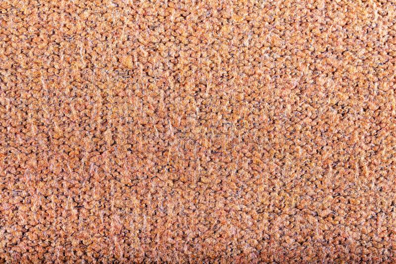 Orange wool knit texture, background. royalty free stock photography