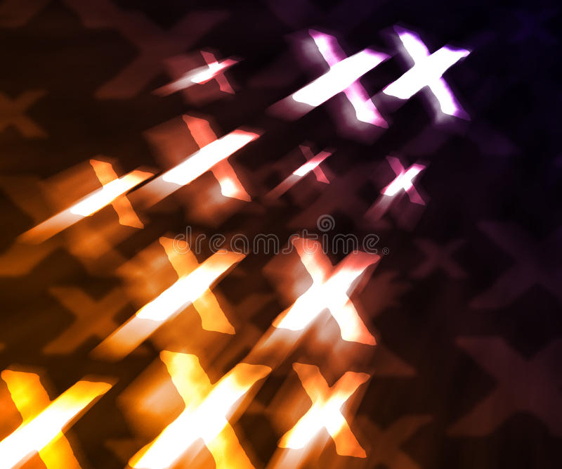Orange XXX Abstract Background Royalty Free Stock Photo