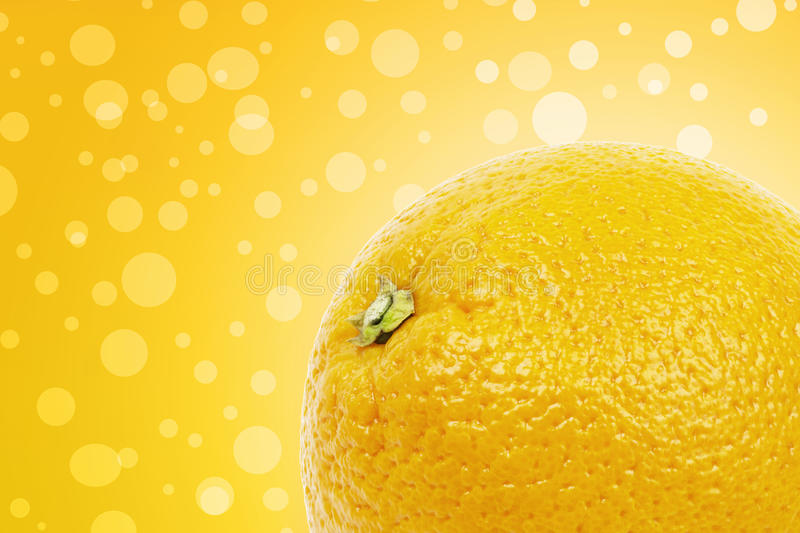 Download Orange On A Yellow Background Stock Image - Image: 27389221