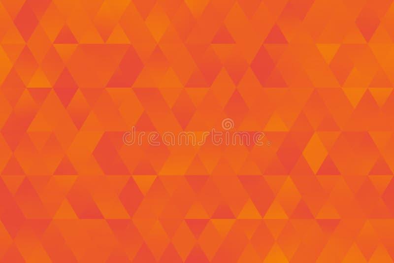 Orange Yellow Triangle Pattern Seamless Colorful Rhomb Background Bright Geometric Minimalism stock illustration