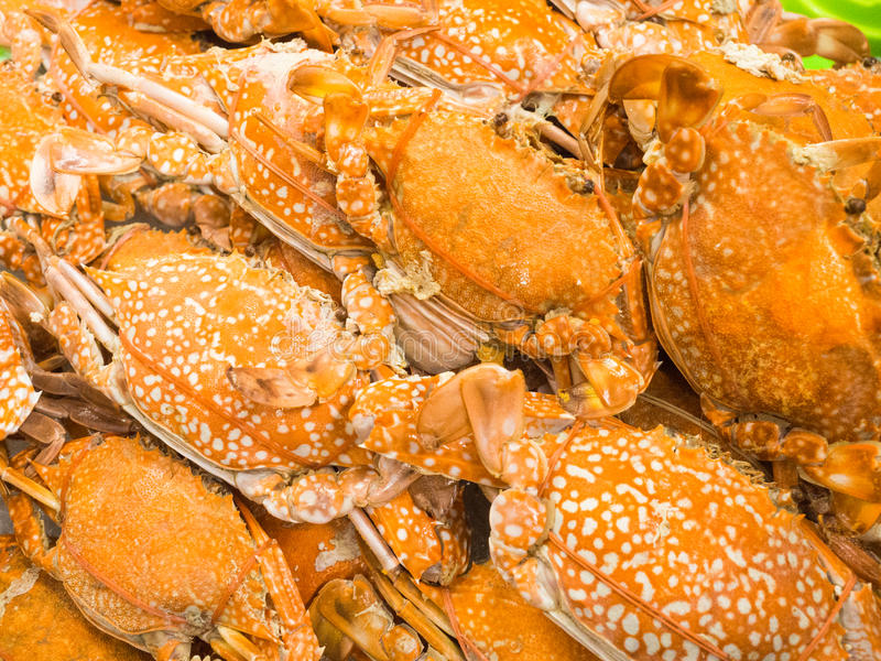 Orange yellow crab boil, seafood. royalty free stock photos
