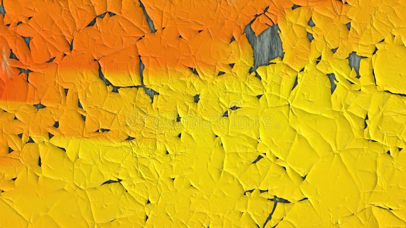 Orange and Yellow Cracked Background vector illustration
