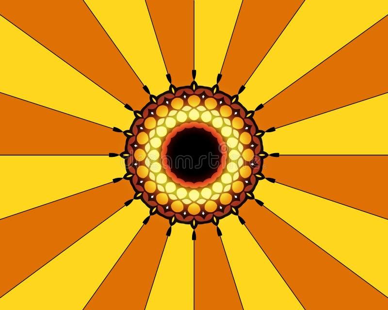 Orange yellow design royalty free stock image