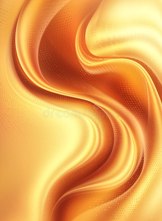 Orange - yellow dynamic abstract modern background vector illustration