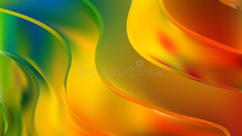 Orange Yellow Green Background Beautiful elegant Illustration graphic art design Background. Image royalty free illustration