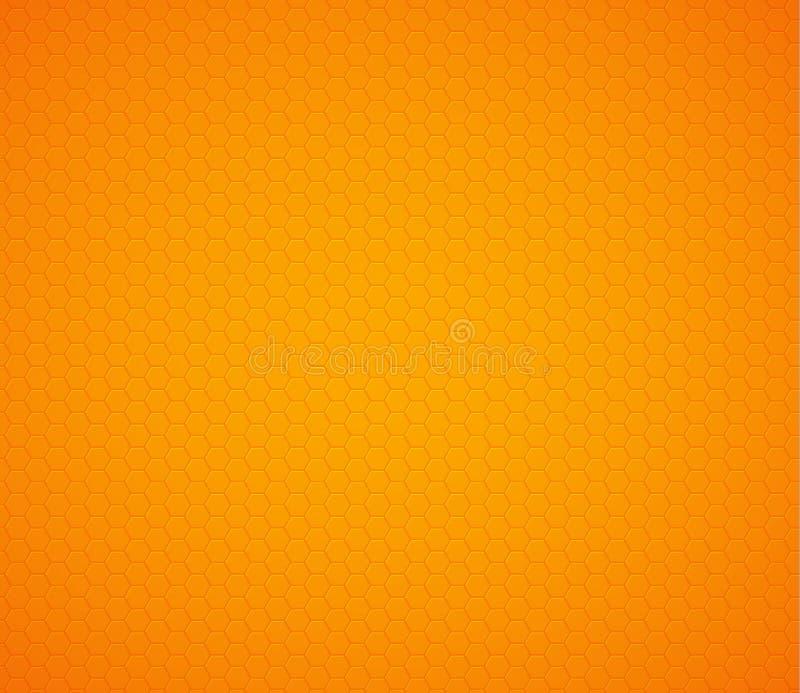 Orange yellow hexagon honeycomb background. Vector illustration royalty free illustration