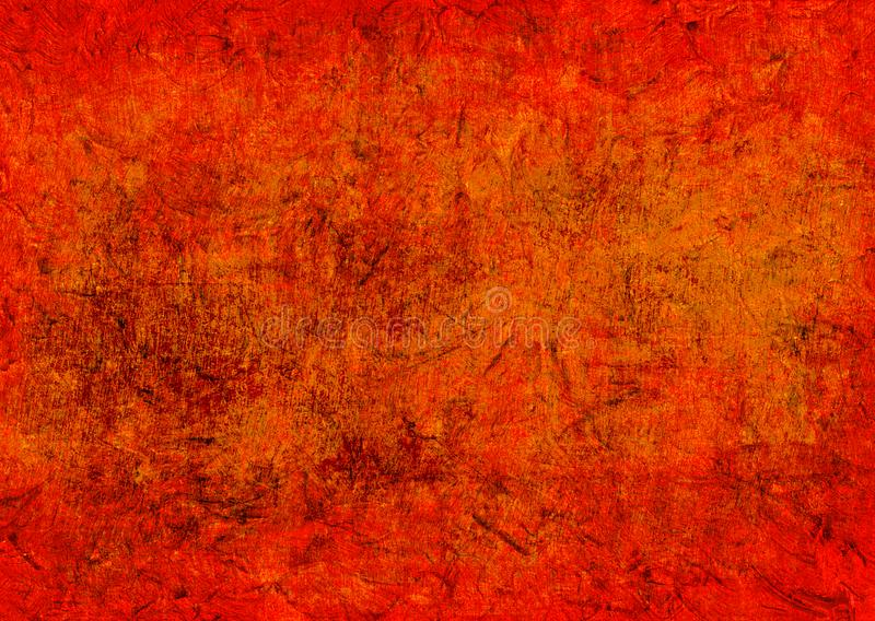 Dark Yellow Red Orange Grunge Rusty Distorted Decay Old Abstract Texture for Autumn Background Wallpaper royalty free stock image