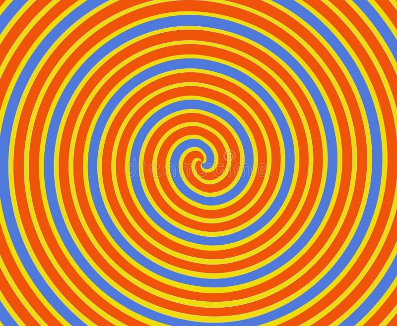 Orange And Yellow Spiral Stock Image