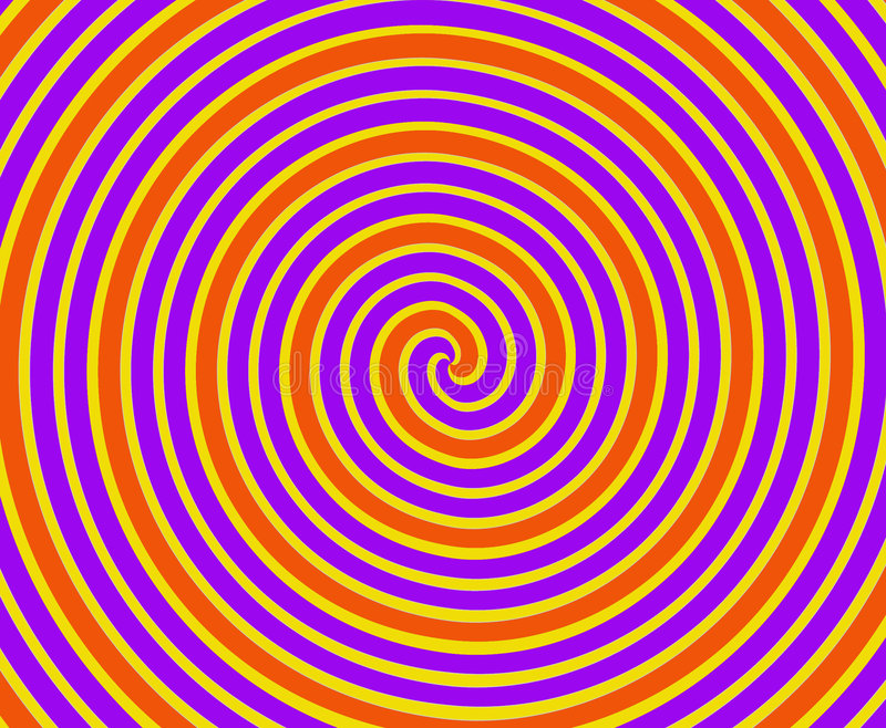 Download Orange and Yellow Spiral stock illustration. Image of purple - 4476088