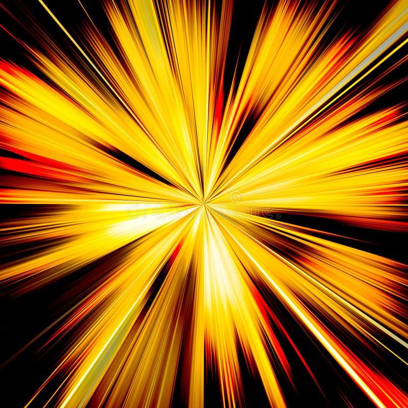 Orange and yellow sunburst beams illustration royalty free stock photo