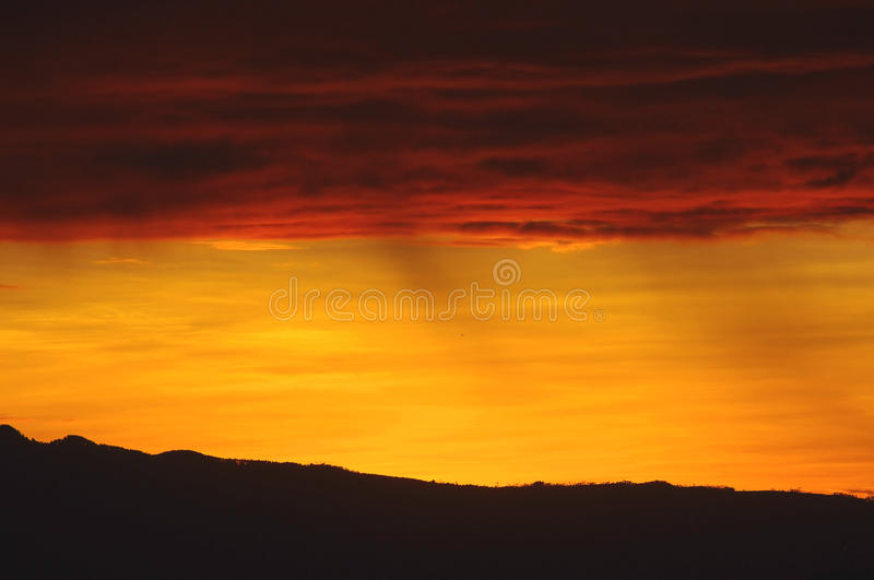 Orange and yellow sunset royalty free stock photos