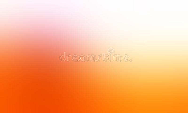 Orange yellow and white pastel color blur background wallpaper. vector illustration